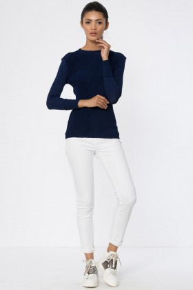 Lidyana Collection - Rıbbed Crewneck Top