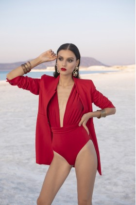 Nur Karaata - Iconic Susi Swimsuit Red 'Special Price'