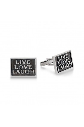 Nida Bulut Jewellery - Live, Love, Laugh'' Kol Düğmesi
