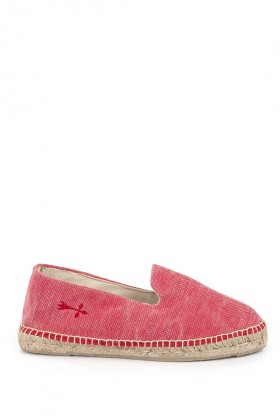 Manebi - La Havana Stone Washed Canvas Intense Red Espadril