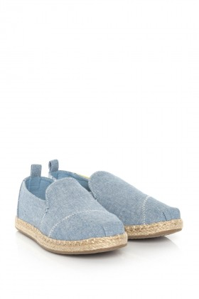 Toms - Blue Slub Chambray Wm Decnalp Esp