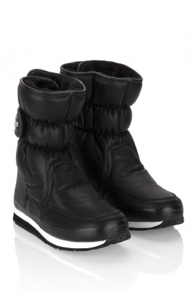 Rubberduck - SPORTY SNOWJOGGERS FAKE LEATHER Black/Siyah