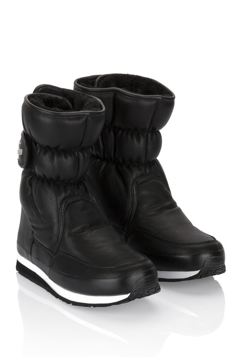 Rubberduck SPORTY SNOWJOGGERS FAKE LEATHER Black/Siyah
