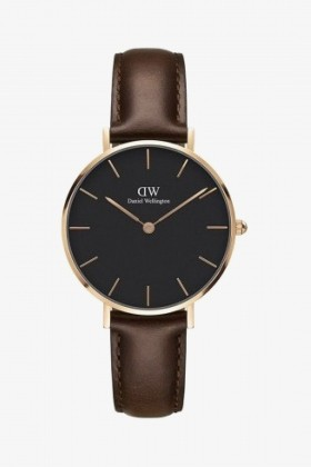Daniel Wellington - Daniel Wellington Women Classic Petite Bristol Black Rose Gold - 32Mm