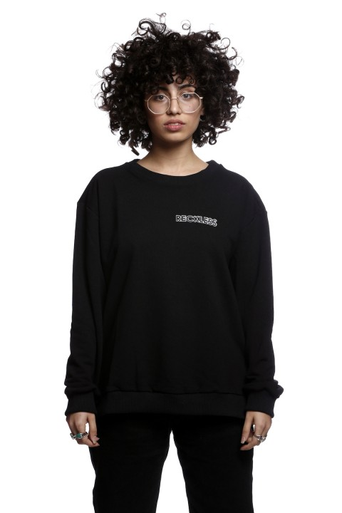Tou Clothing Reckless Siyah Sweatshirt