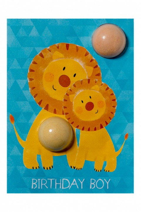Bomb Cosmetics Birthday Boy Lion Blaster Card