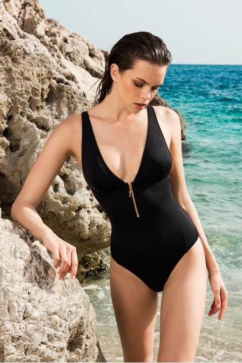 Anais Margaux Paris Noelle Black Swimsuit