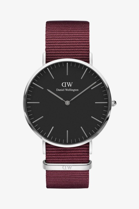 Daniel Wellington Daniel Wellington Women Classic Black Roselyn Silver 40mm