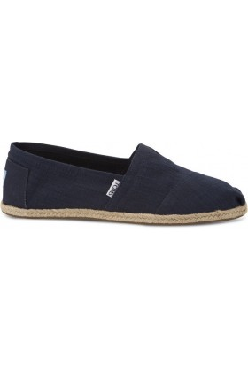 Toms - Navy Textured Linen