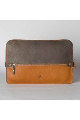 Tox Leather - İki Renkli Briefcase / Macbook Çantası 15''