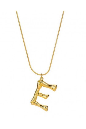 Umbrella Boutique - Bamboo Letter Necklace