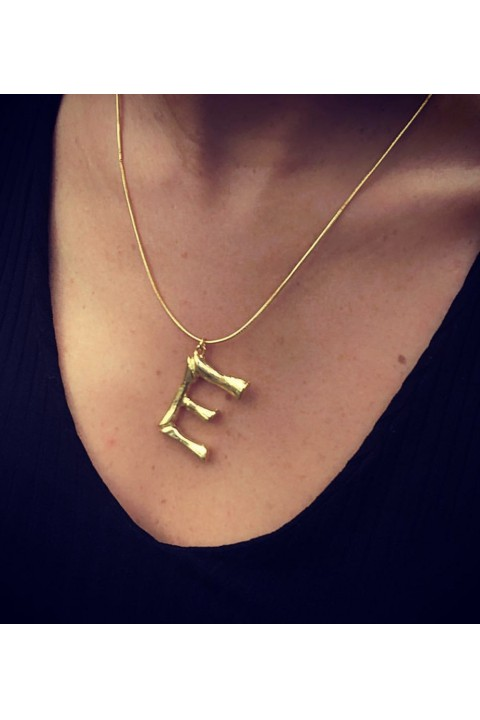 Umbrella Boutique Bamboo Letter Necklace