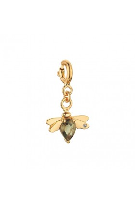 Bee Happy by Bee Goddess - Bee Smoky Topaz, Pirlanta Charm