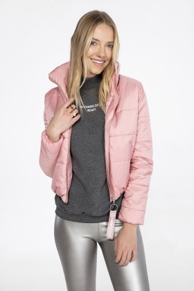 Lidyana Collection - Toz Pembe Puffer Mont