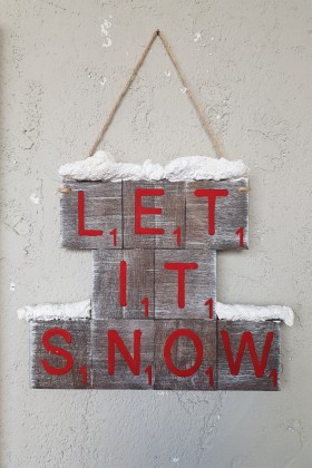 LaMoneta - Let it Snow Scrabble Duvar Aksesuarı