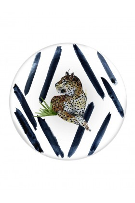 Fern&Co. - Fern&Co 4'lu Serengeti Collection The Leopard's Courage Buyuk Tabak Seti