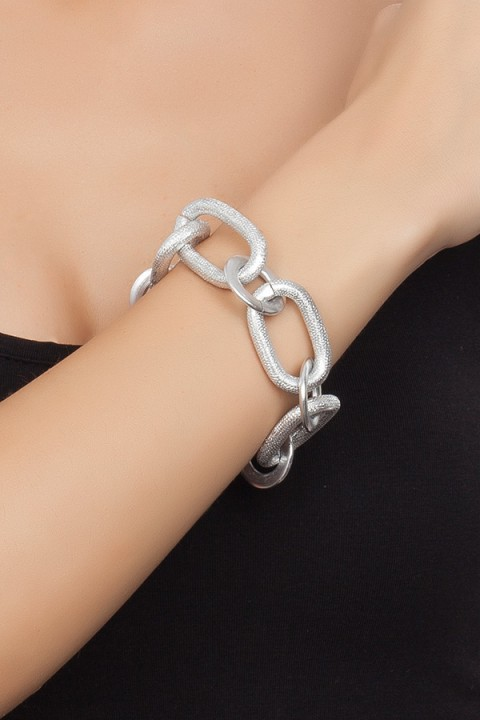 Chain Reaction Silver Glam Bileklik