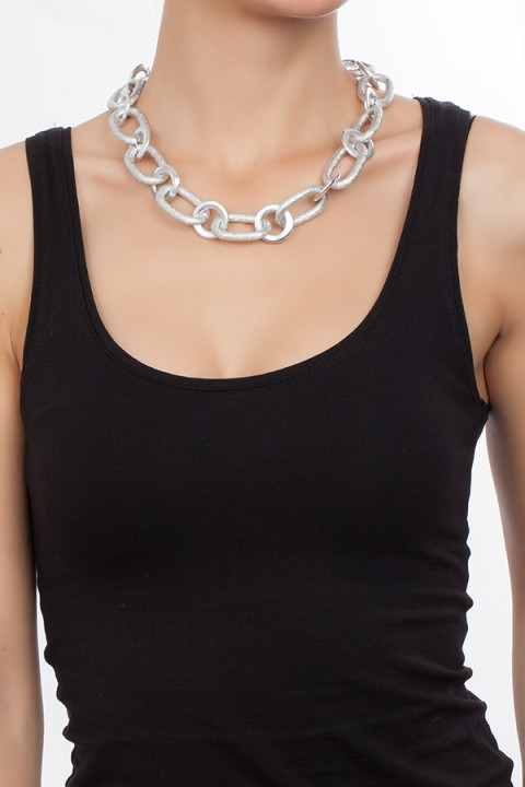 Chain Reaction Silver Glam Kolye