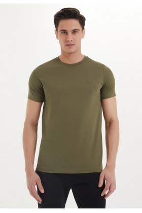 Westmark London - Essentials O-Neck T-Shirt İn Dark Olive Haki T-Shirt