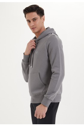 Westmark London - Essentials Hoodie in Charcoal Grey Gri Sweatshirt