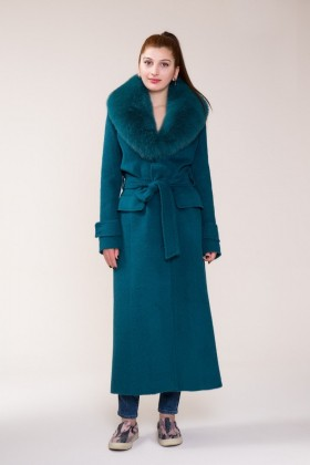 GIZIA - Fur and Belt Detailed Coat