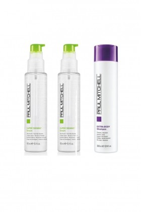 Paul Mitchell - Paul Mitchell Extra- Body Şampuan 300 ml+Saç Kremi 300 ml+Super Skinny Serum 150 ml
