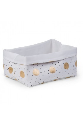 Childhome - Kanvas Kutu 40X30X20, Gold Dots