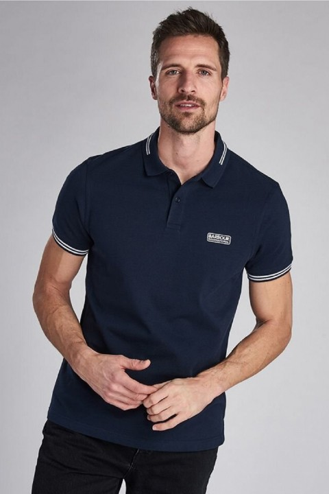 Barbour International B.Intl Essential Tipped Polo Shirt  International Navy