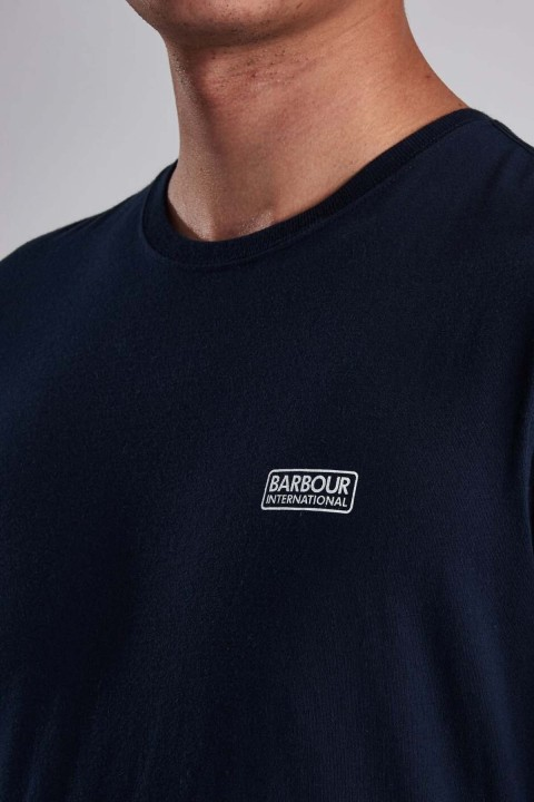Barbour International B.Intl Essential Small Logo T-Shirt  Navy