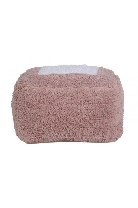 Lorena Canals Puf, Marshmallow Square Vintage Nude