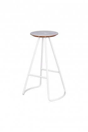 Studio Kali - Sama High Stool Oak-White Tabure