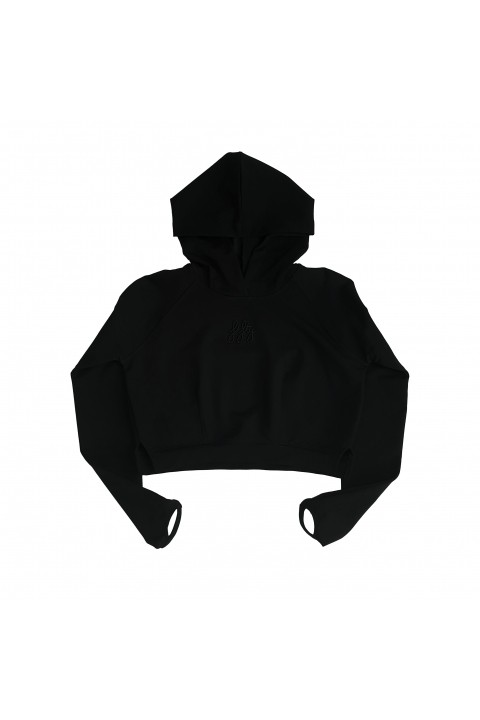 Fifty Pieces Fifty Special Crop Hoodie / Siyah