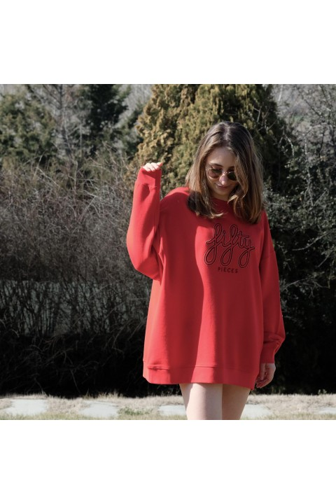 Fifty Pieces Fifty Oversize Sweat / Goji Berry