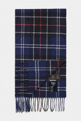 Barbour - Barbour Tartan Lambswool Scarf NY11 Navy-Red