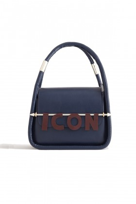 Icon-x Design Official - LOUIS LACIVERT KAPAKLI KADIN EL VE OMUZ ÇANTASI