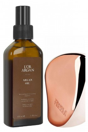 Tangle Teezer - Tangle Teezer Rose Gold + Lor Argan Milano Argan Yağı 100ml