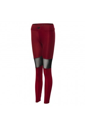 New Balance - NEW BALANCE  TEAM LEGGINGS Bordo Kadın Kapri Tayt - WPP013-BKR