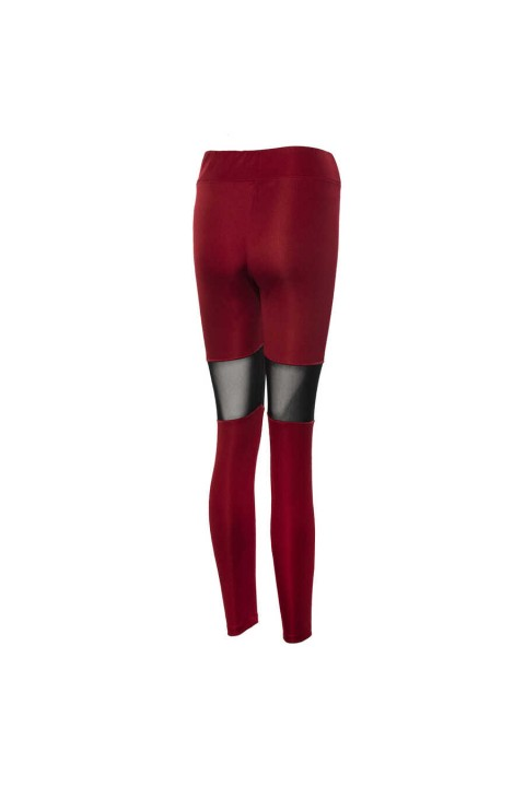 New Balance NEW BALANCE  TEAM LEGGINGS Bordo Kadın Kapri Tayt - WPP013-BKR