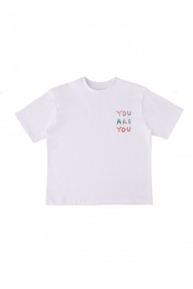 Queerlish - You Are You Oversize T-Shirt Beyaz